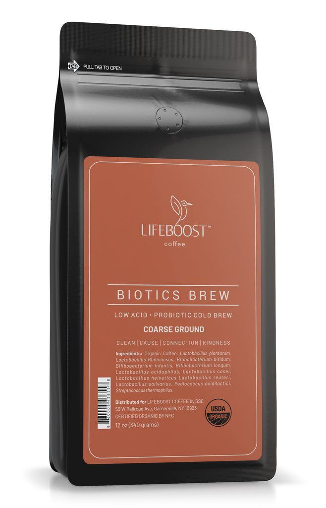 Lifeboost cold brew coffee